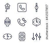 dial icons set. set of 9 dial... | Shutterstock .eps vector #641537857