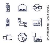universal icons set. set of 9... | Shutterstock .eps vector #641540467