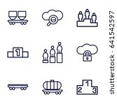 set of 9 platform outline icons ... | Shutterstock .eps vector #641542597