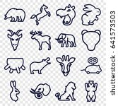 mammal icons set. set of 16... | Shutterstock .eps vector #641573503
