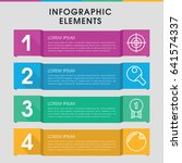 modern challenge infographic... | Shutterstock .eps vector #641574337