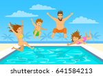 family on summer beach vacation ... | Shutterstock .eps vector #641584213
