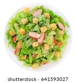 Caesar Salad On White...