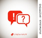 question and exclamation mark... | Shutterstock .eps vector #641599543