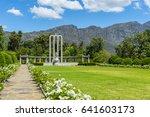 french huguenot monument garden ... | Shutterstock . vector #641603173