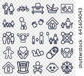 family icons set. set of 25... | Shutterstock .eps vector #641604043