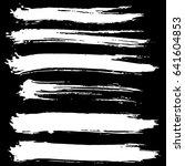 ink vector brush strokes set.... | Shutterstock .eps vector #641604853