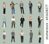 various of occupation job...   Shutterstock . vector #641628277