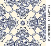 floral seamless pattern. doodle ... | Shutterstock .eps vector #641629483
