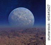 3d rendered space art  alien... | Shutterstock . vector #641641627