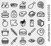 meal icons set. set of 25 meal... | Shutterstock .eps vector #641651203