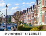row of typical english terraced ... | Shutterstock . vector #641658157