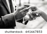 the bridegroom puts on the... | Shutterstock . vector #641667853