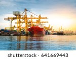 logistics shipping import and... | Shutterstock . vector #641669443