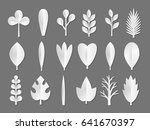 white vector paper flower and... | Shutterstock .eps vector #641670397