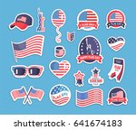 flag day of the usa themed... | Shutterstock .eps vector #641674183