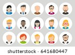 collection of cartoon human... | Shutterstock .eps vector #641680447