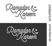 beautiful ramadan kareem text... | Shutterstock .eps vector #641698843