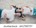 charming couple of young... | Shutterstock . vector #641700757