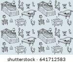 seamless texture   a sketch of... | Shutterstock . vector #641712583