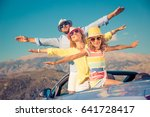 happy family travel by car.... | Shutterstock . vector #641728417