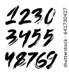 vector set of calligraphic... | Shutterstock .eps vector #641730427