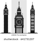 big ben vector  | Shutterstock .eps vector #641731207