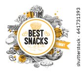 vector hand drawn snack and... | Shutterstock .eps vector #641731393