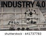 the industry 4.0 energy solar... | Shutterstock . vector #641737783