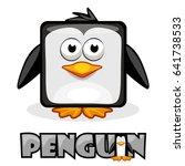 cute cartoon square penguin.... | Shutterstock .eps vector #641738533