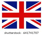 the union flag of england in... | Shutterstock .eps vector #641741707