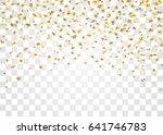 gold stars falling confetti... | Shutterstock .eps vector #641746783