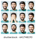 set of handsome emotional man... | Shutterstock . vector #641748193