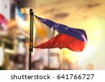 Philippines Flag Against City...