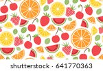 colorful vector summer seamless ... | Shutterstock .eps vector #641770363