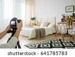 blogger taking a photo of a...   Shutterstock . vector #641785783