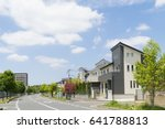 newly built residential area...   Shutterstock . vector #641788813