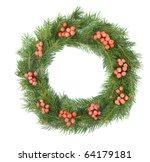 christmas green framework... | Shutterstock . vector #64179181