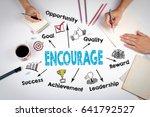 encourage concept. the meeting... | Shutterstock . vector #641792527