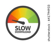 round speedometer slow download ... | Shutterstock .eps vector #641794933