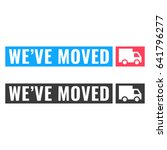 we've moved. two ribbon with... | Shutterstock .eps vector #641796277