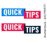 quick tips. two ribbon icon.... | Shutterstock .eps vector #641799577