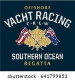 australia offshore yacht racing ... | Shutterstock .eps vector #641799853