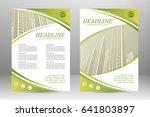 vector flyer template layout... | Shutterstock .eps vector #641803897