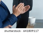 applause with the... | Shutterstock . vector #641809117