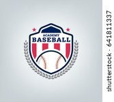vector of baseball sport team... | Shutterstock .eps vector #641811337