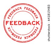 grunge red feed back round... | Shutterstock .eps vector #641815483