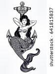 hand drawn artwork of beautiful ...   Shutterstock .eps vector #641815837