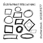 set of vector marker black and... | Shutterstock .eps vector #641819377