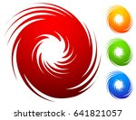 colorful spiral set. abstract... | Shutterstock .eps vector #641821057